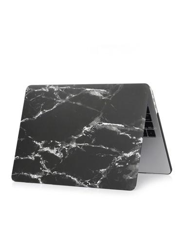 """Mcstorey Yeni MacBook Pro Type-c A1706 A1708 A1989 A2159 13.3"""" Kılıf Kapak Hard case Mermer Zebra"""